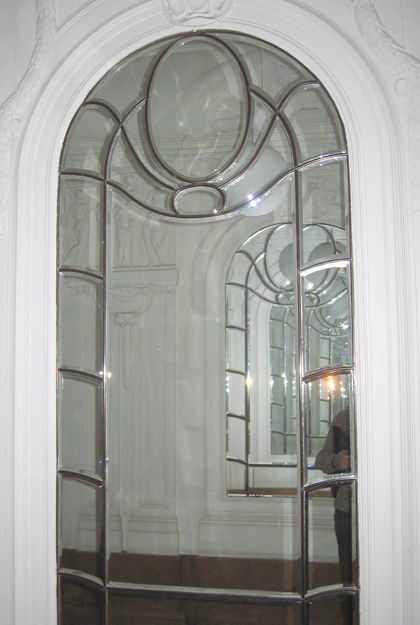 elegant Ebtry with beveled Mirror