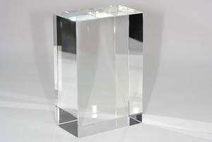 Glasquader - Glasblock optisch rein - ca 150 x 100 x 60mm