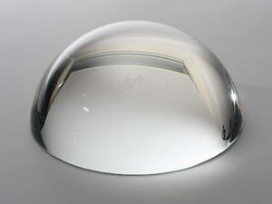 Hemisphere of optical clear Glass